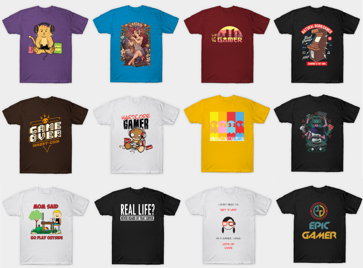 15 t-shirt designs for video gamers